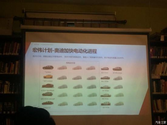 曝奥迪新能源车型规划 将加快电动化进程