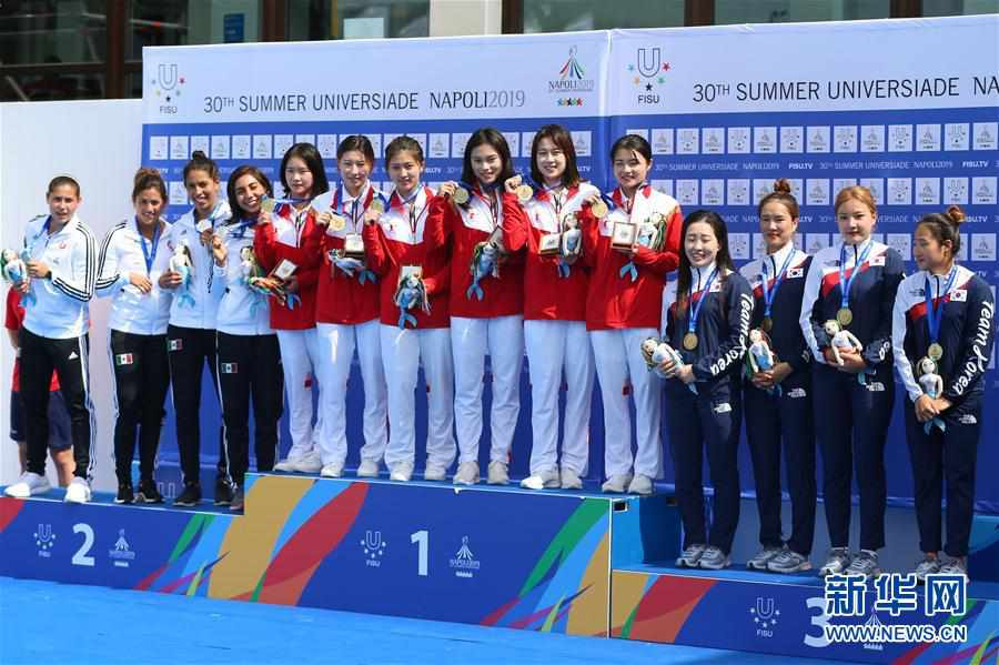 (大运会)(4)跳水――中国队获得男、女团体金牌