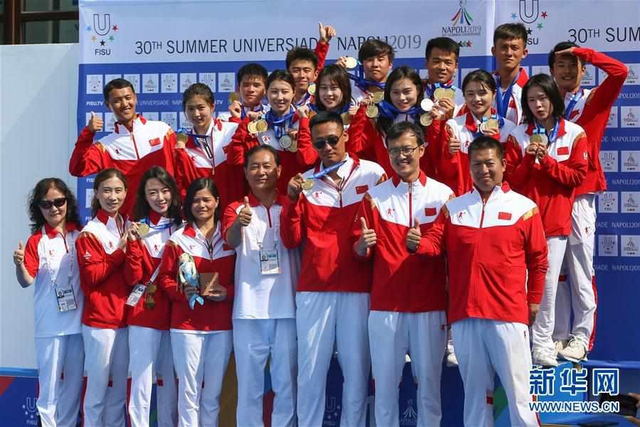 (大运会)(1)跳水――中国队获得男、女团体金牌