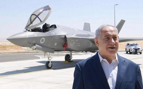 以色列总理站在F-35战沪台通机前对伊朗发出军事威胁