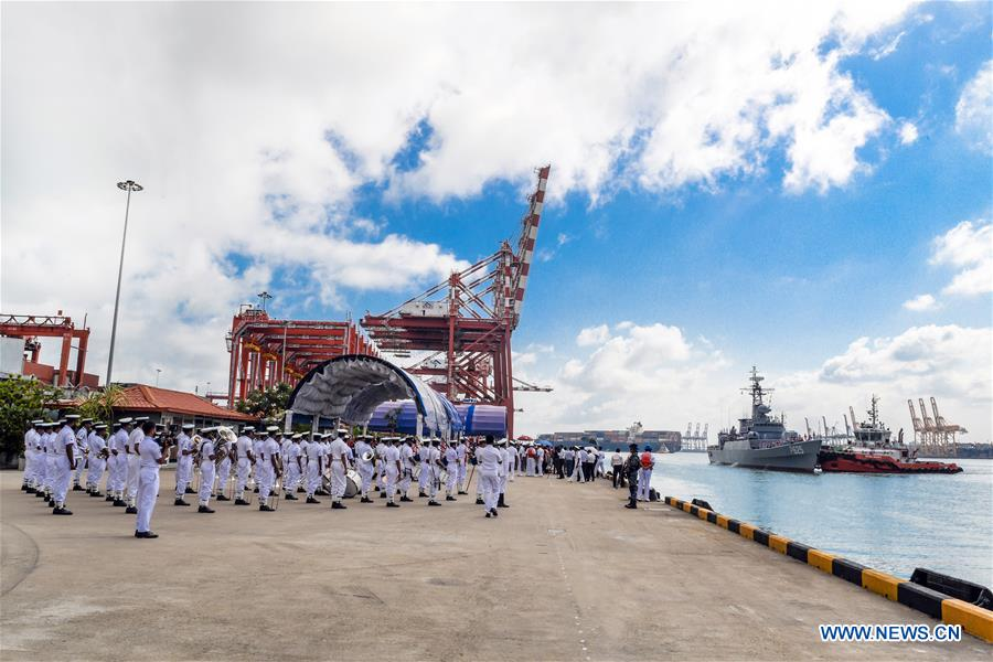 SRI LANKA-COLOMBO PORT-CHINA-GIFTED FRIGATE