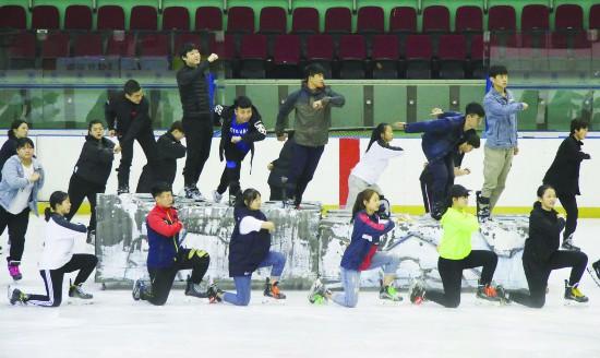 冰球季开幕式演出进入排练阶段