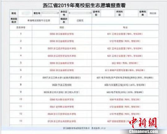 浙江台州一考生因高考成绩不理想篡改同学志愿被拘留