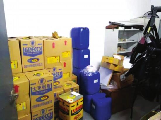 苏州昆山一企业在妇女卫生室偷藏1.34吨危化品被查获