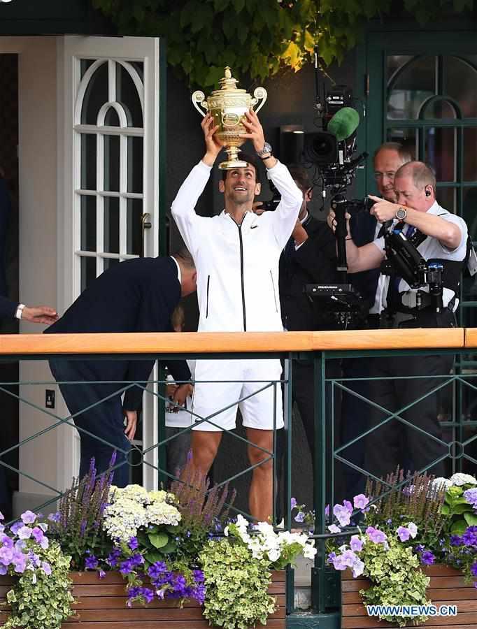 (SP)BRITAIN-LONDON-TENNIS-WIMBLEDON CHAMPIONSHIPS 2019-MEN'S SINGLES-FINAL
