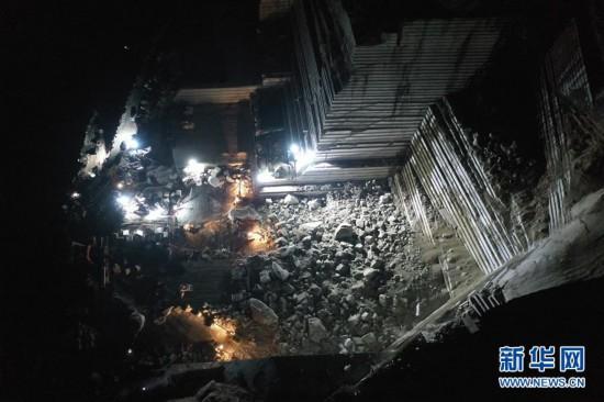 广西岑溪市一矿山发生塌