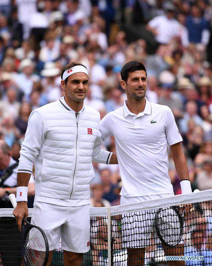 (SP)BRITAIN-LONDON-TENNIS-WIMBLEDON CHAMPIONSHIPS 2019-MEN'S SINGLES-FINAL