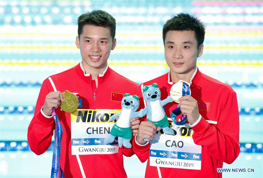(SP)SOUTH KOREA-GWANGJU-FINA WORLD CHAMPIONSHIPS-MEN'S 10M SYNCHRO PLATFORM FINAL