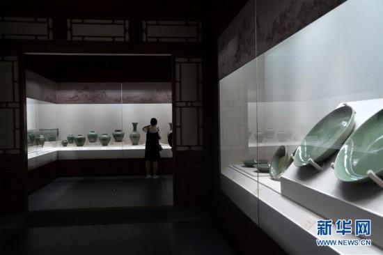 """(文化)(1)""""天下龙泉――龙泉青瓷与全球化""""展在故宫开幕"""