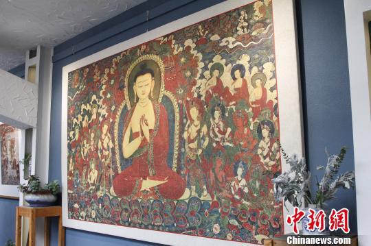 """传统藏纸""""搭档""""数字化开启西藏古老壁画传承新方式"""