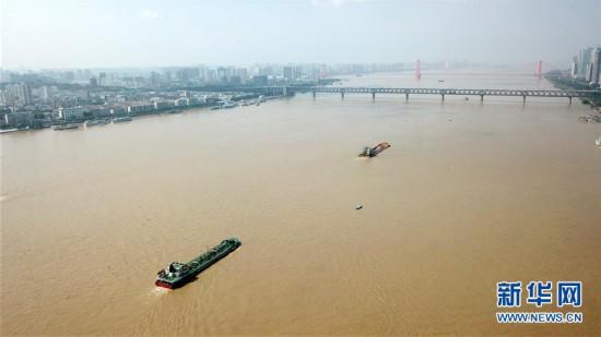 (社会)(3)长江干流湖北段水位持续上涨