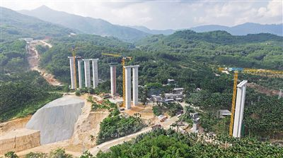 海南山海高速金江特大桥有望明年春节前贯通