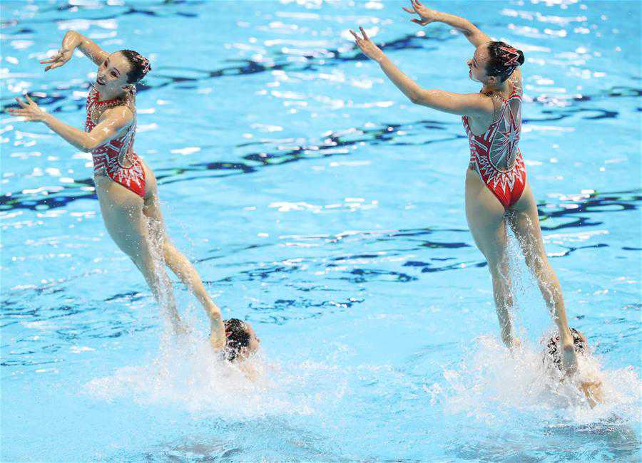 Women's team technical final of artistic swimming at 2019 FINA World Championships
