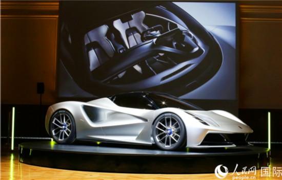 全球首款纯电动超级跑车Evija亮相伦敦。(路特斯汽车 提供)