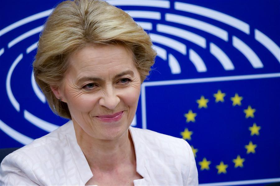Von der Leyen becomes first female EU executive chief with narrow win