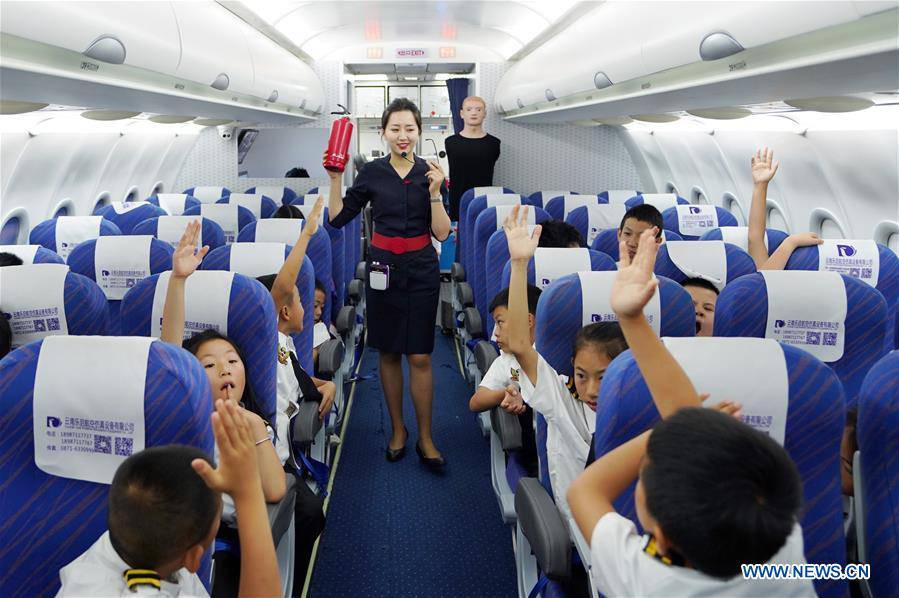 Students attend aviation-themed summer camp in Yunnan
