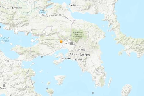 希腊雅典附近发生5.3级地震当地手机信号中断