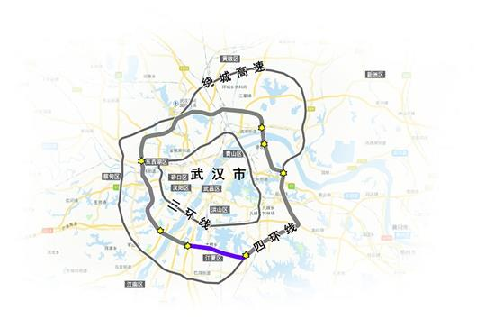 武汉四环线南段主线贯通 全长17公里