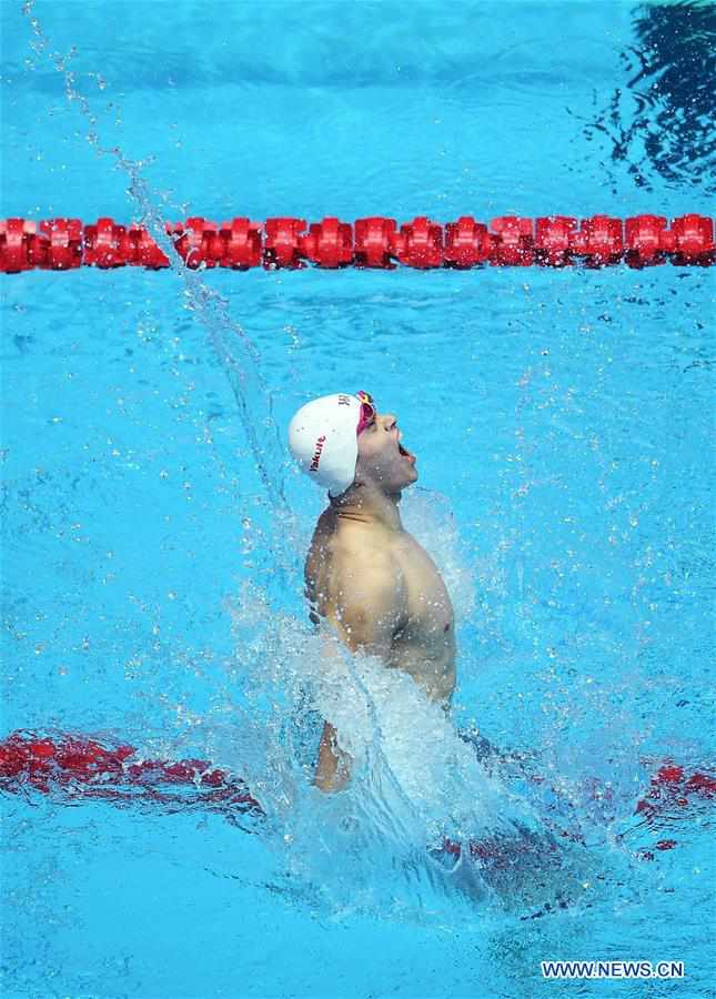 (SP)SOUTH KOREA-GWANGJU-FINA WORLD CHAMPIONSHIPS-SWIMMING-MEN'S 400M FREESTYLE