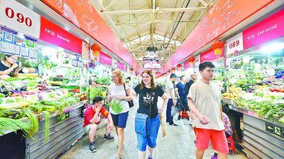 """朝阳区三源里菜市场 """"网红""""菜市场商品齐全"""