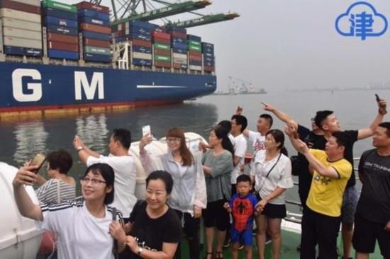 天津首条港口工业游线路正式开航