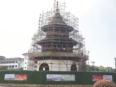 434岁扬州地标文昌阁开始大修 国庆前完工