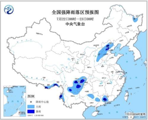 四川盆地等地有较强降雨黄淮江淮江南等地有高温天气