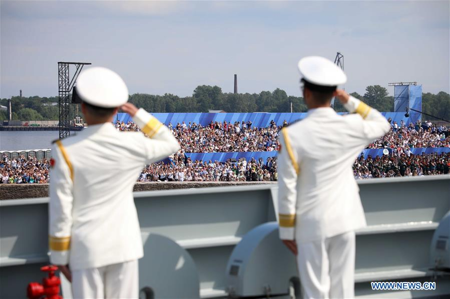 RUSSIA-ST. PETERSBURG-NAVY DAY-CHINESE WARSHIP