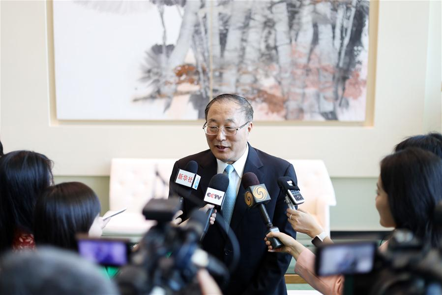 UN-CHINA-NEW AMBASSADOR-PRESS BRIEFING