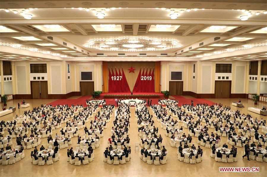 CHINA-BEIJING-PLA-92ND FOUNDING ANNIVERSARY-RECEPTION (CN)
