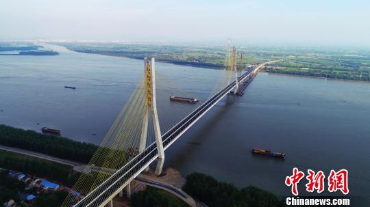 安徽池州長江大橋已具備通車條件預計九月份正式通車
