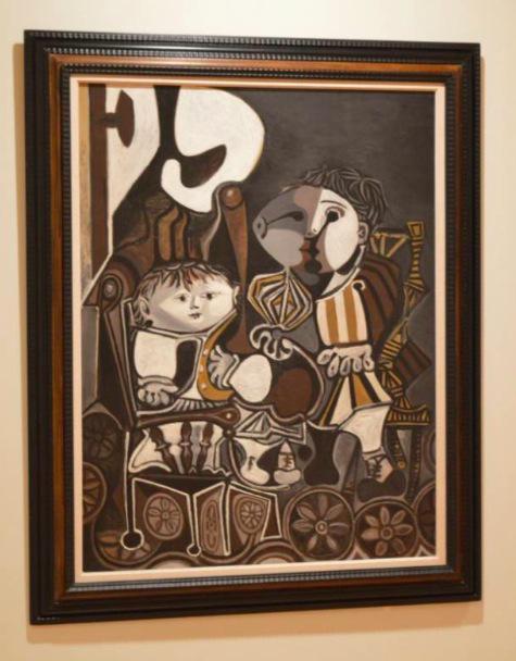 毕加索 《两个小孩》