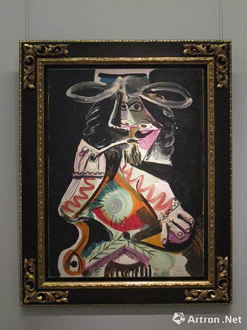 毕加索 《抽烟斗的男人》布面油画  130*97cm  1969年