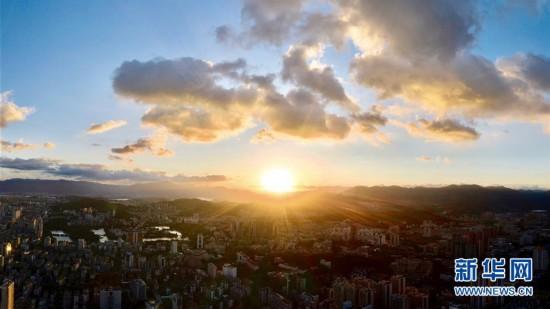 (新华视界)(2)福州晚霞美