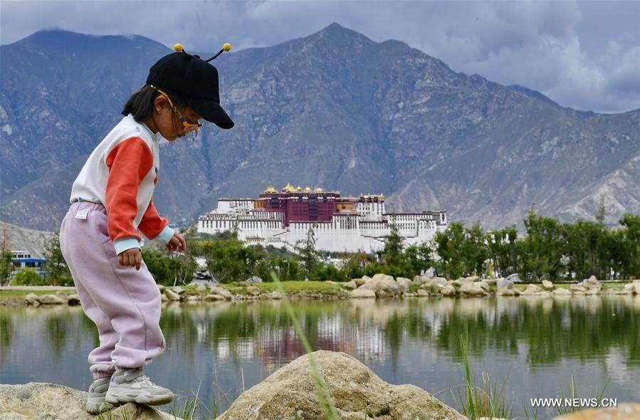 Summer scenery of Nanshan Park in Lhasa