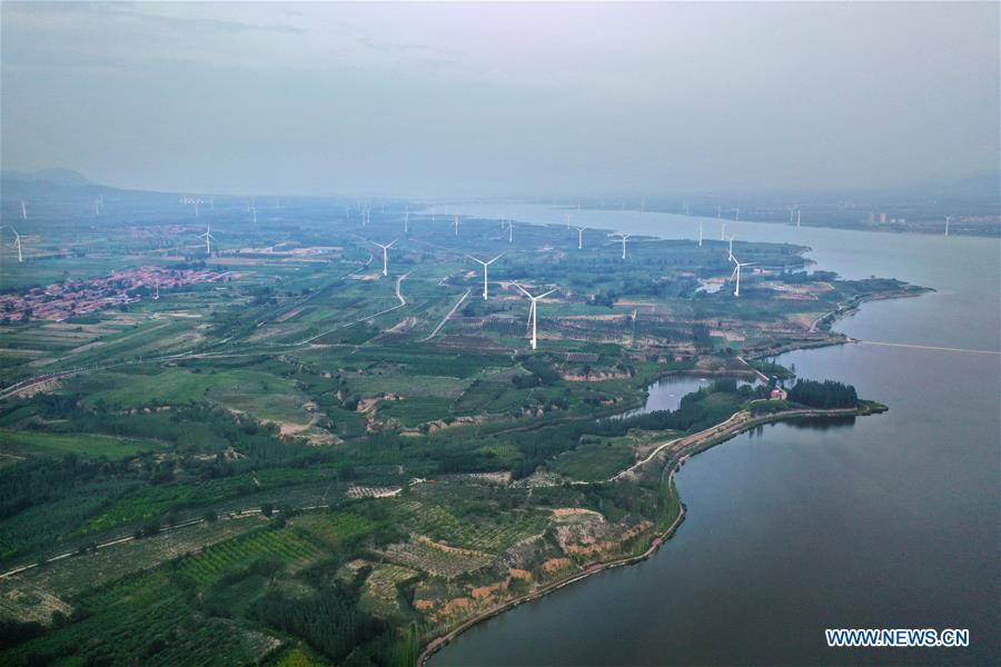 Scenery of Guanting Reservoir National Wetland Park in Hebei