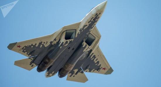 俄苏-57第五代战斗机将进行静态展示