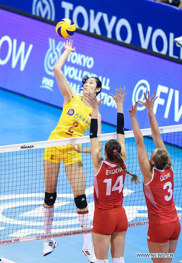 China's women volleyball secures Olympic slot by beating Turkey 3-0