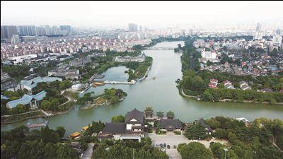 南通濠河景区十处绿化景观提升工程初步完成