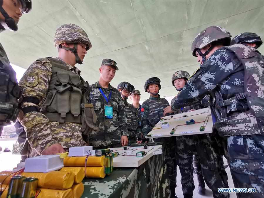 """Highlights of China-Kyrgyzstan """"Cooperation-2019"""" joint counter-terrorism exercise"""