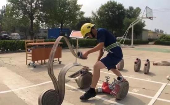 """天津消防救援总队开展""""火焰蓝""""好汉争霸比武大赛"""