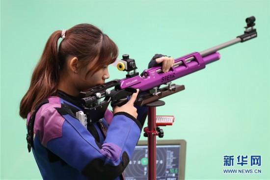 体校甲组10米气步枪混合团体决赛赛况