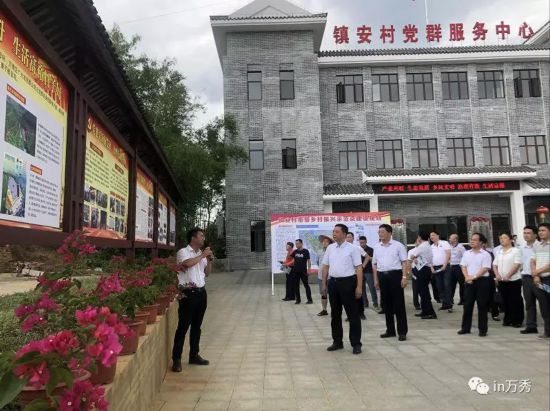 蒋海东率队到夏郢镇现场观摩梧州市乡村振兴示范点(镇安村)建设情况