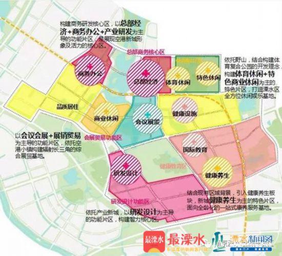 南京空港新城公布四大发展目标 七大功能板块