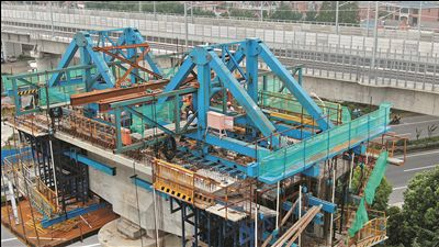 """臺風""""利奇馬""""過境后南通重點工程恢復施工"""