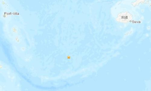 斐济群岛附近海域发生5.3级地震震源深度10公里