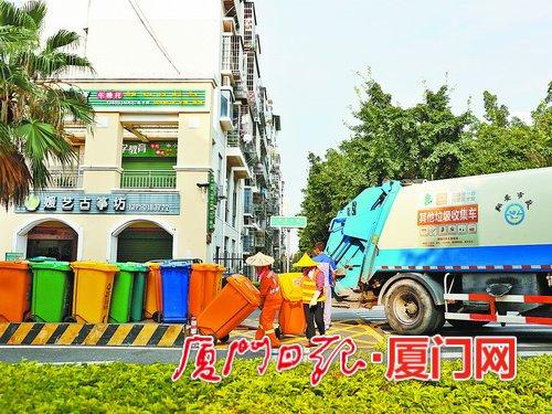 厦门翔安区巩固提升生活垃圾分类工作 绿蓝黄红扮靓城乡风景线