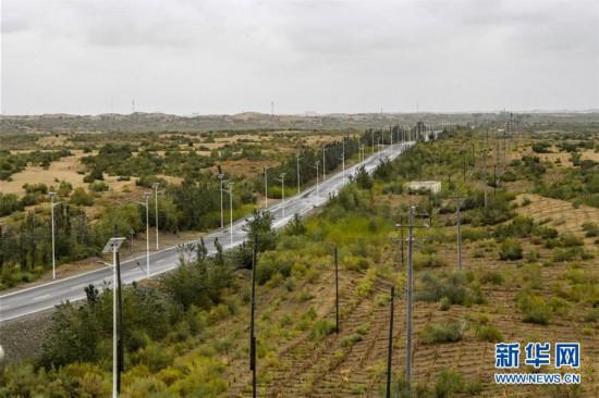 (环境)(5)雨后大漠景如画