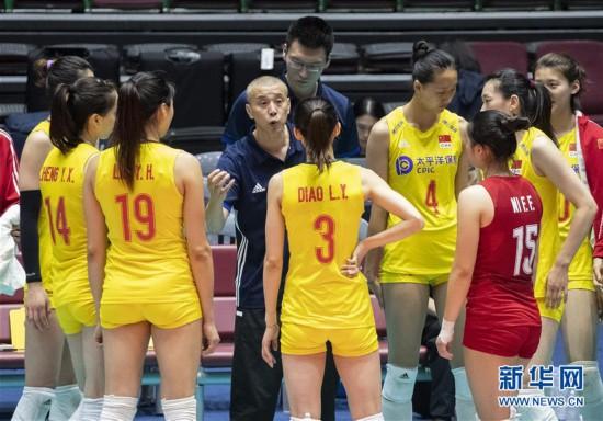 (体育)(4)排球――女排亚锦赛:中国胜哈萨克斯坦