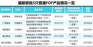 时隔一年半普通公募FOF产品审批重启